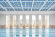 1930's Swimming Hall Finckensteinallee by Veauthier Meyer Architects - perfect except for the brightly tiled walls  leading to locker rooms.