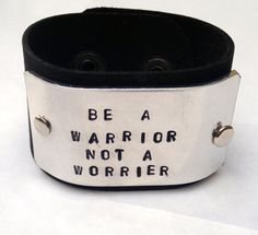 Be A Warrior Not A Worrier Leather  Yoga Jewelry  by IndoLove, $39.00