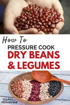 Your pressure cooker or Instant Pot can help you cook dry beans FAST - pressure cooker time chart included for all sorts of dry beans