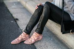 Leather & heather gray on Fashion Born // wearing Aritzia, Club Monaco, Rag & Bone, Chloe and Zara