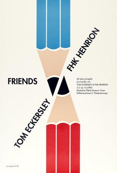 Tom Eckersley Deutsches Plakat Museum exhibition poster via thevads archiveof the University of the Arts London.