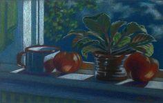 Original Painting - Tomatoes on Sill, No. 3 on Chairish.com