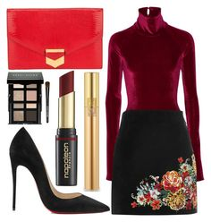 """""""Untitled #886"""" by clothyoulike ❤ liked on Polyvore featuring Alix, River Island, Hermès, Christian Louboutin, Bobbi Brown Cosmetics, David Jones and Yves Saint Laurent"""