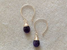 craftsy - wrapped briolette earrings