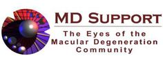 MD Support logo - The Eyes of the Macular Degeneration Community