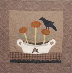 """from a pattern called """"Autumn Quilt"""" by Heart To Hand, by Karenlogcabinquilter"""