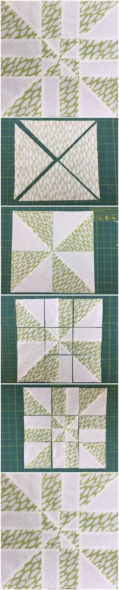 Block 7: Disappearing pinwheel quilt sampler - quick and easy quilting block - free tutorial