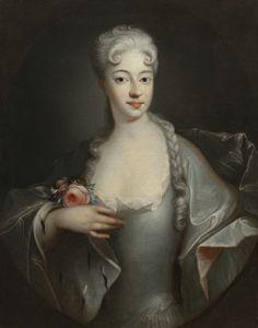 Eleonora Czartoryska (Waldstein), żona Michała Czartoryskiego (szwagra St. Poniatowskiego ojca), ok. 1730.
