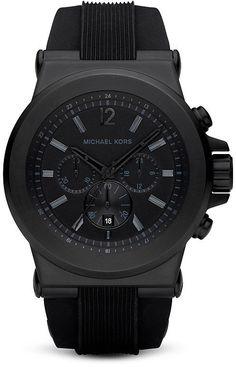 Michael Kors Men's Black Watch, 45mm #michaelkorswatches #mkwatches #michaelkorswomen #mkmenswatch #watchmichaelkors