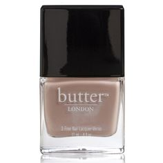 butter LONDON Yummy Mummy 3 Free lacquer 11ml ($16) ❤ liked on Polyvore featuring beauty products, nail care, nail polish, butter london nail lacquer, butter london nail polish and butter london