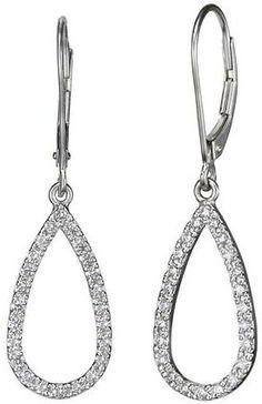 Teardrop Earrings (1/2 ct. tw.) in 18K White Gold