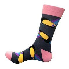 PEONFLY Funny Cotton Men's Socks Elephant Dolphin Warm Skate Harajuku Cool Happy Socks for Wedding Christmas Gift Knee Socks, Men's Socks, Happy Socks, Women Legs, Pink Yellow, Funny Gifts, Harajuku, Elephant, Warm
