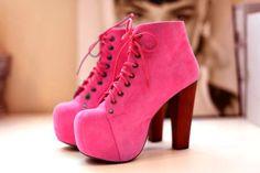 Jeffrey Campbell Pink Lita Boots