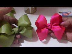 Channel created to help people earn extra money working at home by making crafts. Ribbon Art, Diy Ribbon, Ribbon Crafts, Ribbon Bows, Ribbons, Fancy Bows, Bow Tutorial, Diy Bow, Diy Hair Accessories