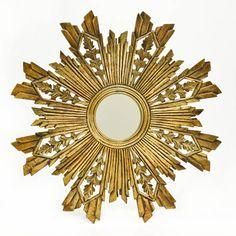 Gold Sunburst Mirror II