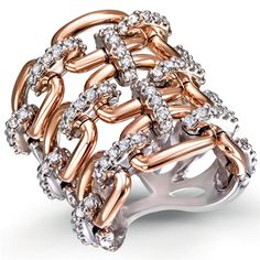 Other Fine Rings Smart Argento Massiccio Sterling 925 Nero & Chiaro Zirconia Cubica Criss-cross Fedina Matching In Colour