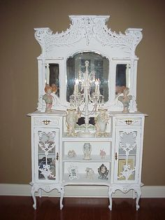 Antique Eterge that has been painted.