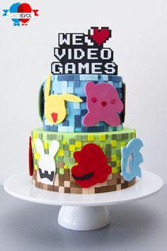 NOS CRÉATIONS - We Love Video Games - CAKE RÉVOL - Cake Design - Nantes