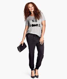 Plus size classy sweetshirt pants