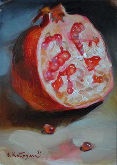 """Half a Pomegranate"" - Original Fine Art for Sale - © Elena Katsyura"