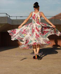 maxi dress floral/floral maxi dress/boho maxi by DressOriginal