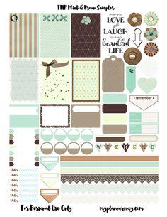 My Planner Envy: Mint & Brown Sampler - Free Planner Printable