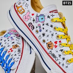 9bd7231d42f4 BT21 converse. See more. Sock Shoes
