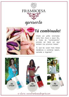 #framboesalingerie #fashion #esmaltes #moda #nailpolish