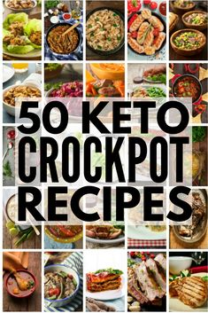 50 Keto Crockpot Recipes! | We're sharing 50 low carb, ketogenic diet approved easy dinners you can make in your crock pot! Whether you prefer chicken, beef, pork, ground turkey, roasts, soups, chilis…we've got delicious and healthy keto recipes to add to your weekly meal plan. Some are grain free, some are dairy free…who says being on the keto diet has to be boring?!