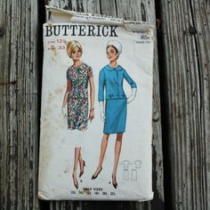 Butterick 4315 1960s 60s Jacket Skirt Suit by EleanorMeriwether