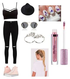 """""""Idk"""" by kyla-espinosa on Polyvore featuring Boohoo, Converse, Prada, Apples & Figs and Charlotte Russe"""
