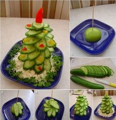 Creative Ideas - DIY Fruit and Vegetable Christmas Tree 2