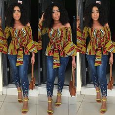 Latest Ankara Tops for ladies version) - Esther Adeniyi African Fashion Designers, African Inspired Fashion, African Print Fashion, Africa Fashion, Ankara Tops, Ankara Blouse, Ankara Crop Top, African Print Dresses, African Fashion Dresses