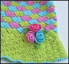 Rose Buds Crocheted Hat ~ Sizes 12M to Adult | YouCanMakeThis.com