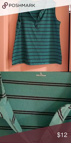 Women's Sz. Large Croft&Barrow Sleeveless Top Brand new without tags. Size Large Croft&Barrow Sleeveless Top. Blue with navy stripes.  Great to add to your Summer collection! croft & barrow Tops Tank Tops