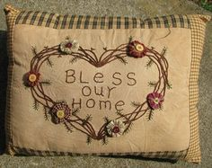 "203M- Bless Our Home Mustard   10""H x 14""W     $ 14.95"