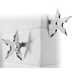 $12.95 - Ninja Star Coat/Hat Hooks - For the budding ninja in your life. Most men think they are ninjas (I know I do). This would make a killer (pun intended) gift.
