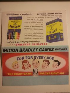1950s Milton Bradley Advertising Insert A Glimpse Into Games Mores Of Past Era