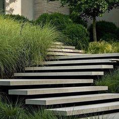 Floating concrete steps by Page Duke Landscape Architecture.