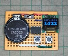 This instructable show how to use an to create a tiny watch core that can run over 1 year before recharge or replace battery.The instruction to make the. Make A Clock, Diy Clock, Electronic Engineering, Electrical Engineering, Electronic Parts, Diy Electronics, Electronics Projects, Science Projects, Fun Projects