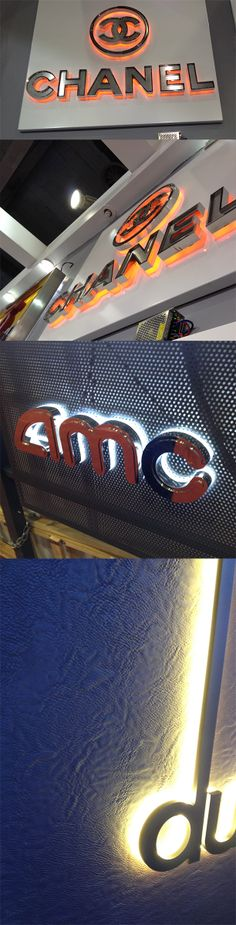 Some awesome backlit options for dimensional letters. Images from the GILE 2014…