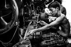 Production Line in backstreets of Cholon, Vietnam ~ Susan Crichton-Stuart