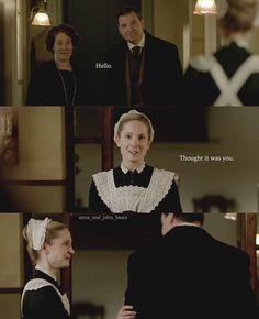 Episode 2x04 [@anna_and_john_bates   Instagram] Anna Bates John Bates Downton Abbey Joanne Froggatt Brendan Coyle
