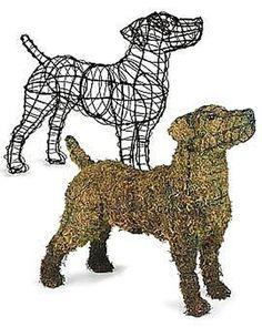 How to Make a Dog Topiary Chicken Wire Art, Chicken Wire Sculpture, Dog Sculpture, Landscape Design Small, Modern Garden Design, Formal Gardens, Small Gardens, Modern Gardens, Lucky Puppy