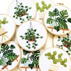 Potted Pattern Embroidery Kits, Green Plant Series Embroidery - Monstera&Tomato Vine, Simple Embroidery for Beginners, Best Gifts For Her Flower Embroidery Designs, Hand Embroidery Stitches, Modern Embroidery, Embroidery Hoop Art, Hand Stitching, Etsy Embroidery, Hungarian Embroidery, Japanese Embroidery, Embroidery Patterns Free