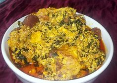 Egusi soup is a Nigerian soup prepared with blended melon seeds; this soup can be prepared with vegetables or without vegetables. It is referred to as Ofe Egusi in Igbo, … Read Egusi Soup Recipes, Melon Soup, Goat Meat, Pumpkin Leaves, Types Of Meat, Smoked Fish, Cooking Spoon, Yams, Stuffed Peppers