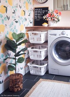 These home organization ideas from HouseLogic will give you clever storage ideas that work great for small houses (and larger ones, too! Amazing what clever storage ideas you can find in your own home. Laundry Room Remodel, Laundry Room Organization, Laundry Room Design, Laundry Room Inspiration, Small Laundry, Laundry Baskets, Room Decor, Storage Ideas, Organization Ideas