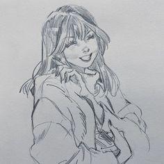 Pretty Art, Cute Art, Leslie Hung, Smile Drawing, Arte Sketchbook, Sketchbook Inspiration, Hanging Art, Graphic, Cool Drawings