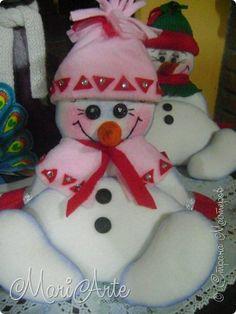 Здравствуйте всем !!! Решила добавить мастер- класс по этому снеговичку... фото 1