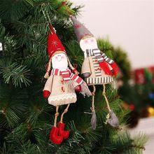 Reliable 2019 Christmas Decoration Pendant Santa Claus Doll Toys Wooden+woolen Santa Claus Dolls Pendant Christmas Decorations For Home Crease-Resistance Welding Equipment
